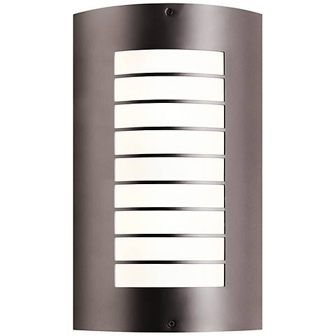 "Kichler Newport 15 1/4"" High Bronze Outdoor Wall Light"