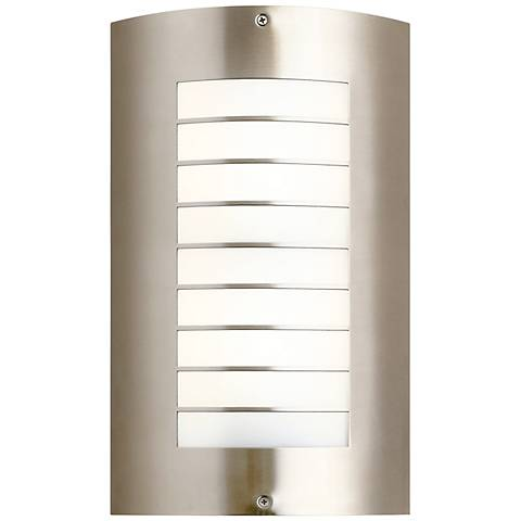 "Kichler Newport 15 1/4"" High Nickel Outdoor Wall Light"