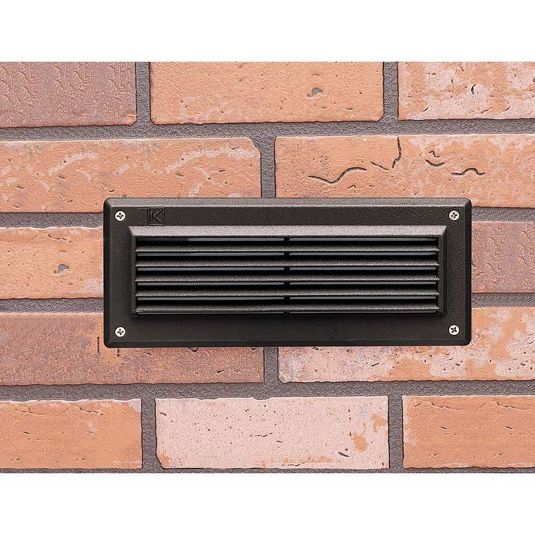 "Kichler 9 1/2""W 2700K LED Bronze Landscape Brick"
