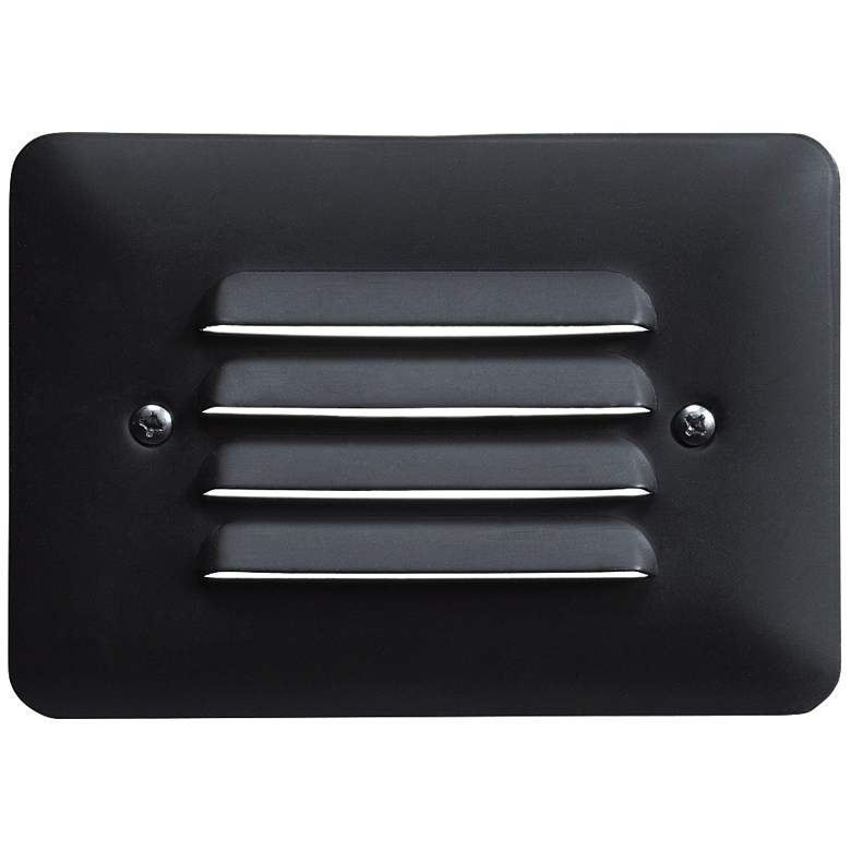 "Kichler 5""W Louvered 1-Watt 2700K LED Black Step"
