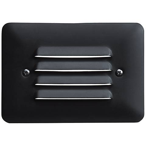 "Kichler 5""W Louvered 1-Watt 2700K LED Black Step Light"