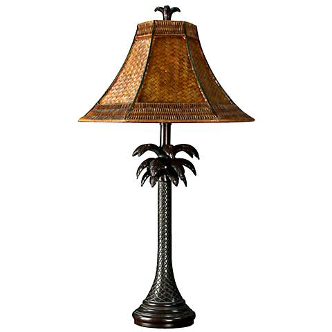 French Verdi Palm Tree Table
