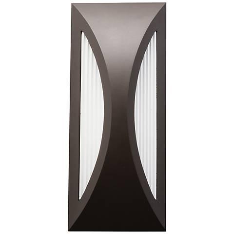 "Kichler Ceysa 12"" High Bronze LED Outdoor Wall Light"
