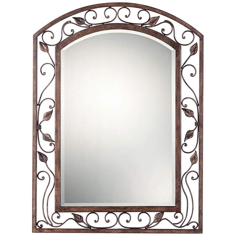 "Eden Park Bronze 25"" x 34"" Arch Top Wall Mirror"