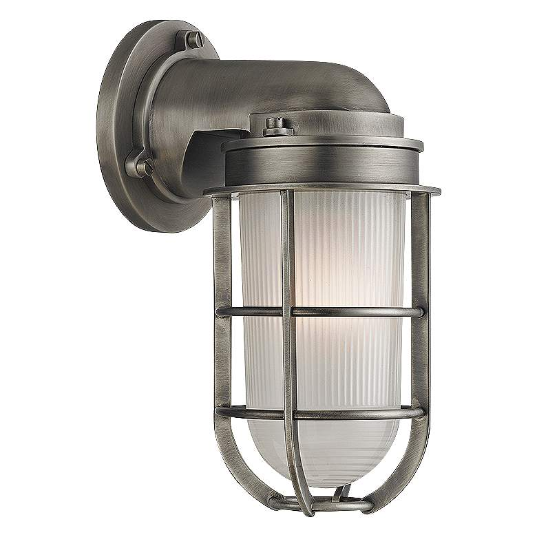 """Hudson Valley Carson 10"""" High Antique Nickel Wall Sconce"""