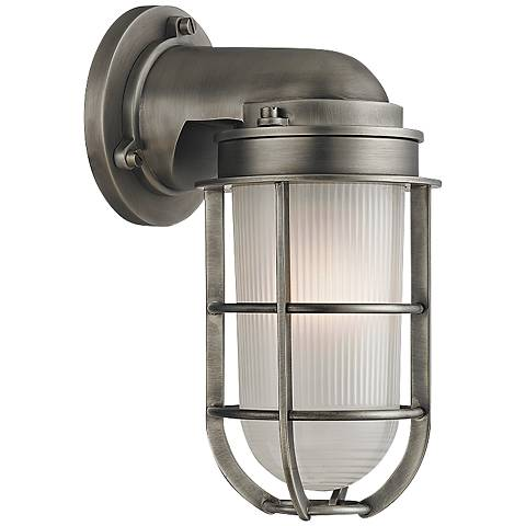 "Hudson Valley Carson 10"" High Antique Nickel Wall Sconce"