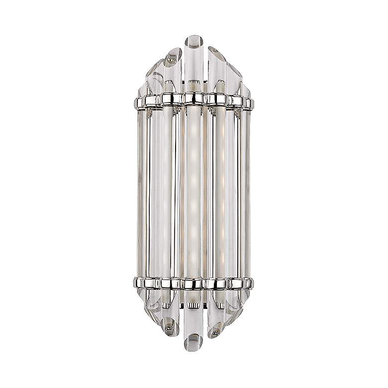 """Albion 6 1/2"""" Wide 8-Light Polished Nickel LED Wall Sconce"""