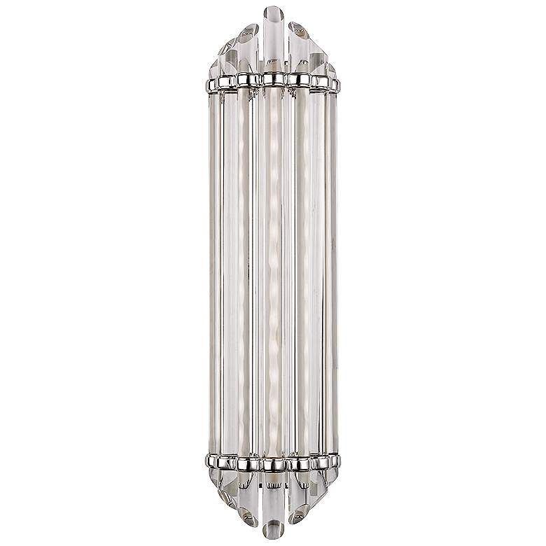 "Albion 6 1/2"" Wide 14-Light Polished Nickel LED Wall Sconce"