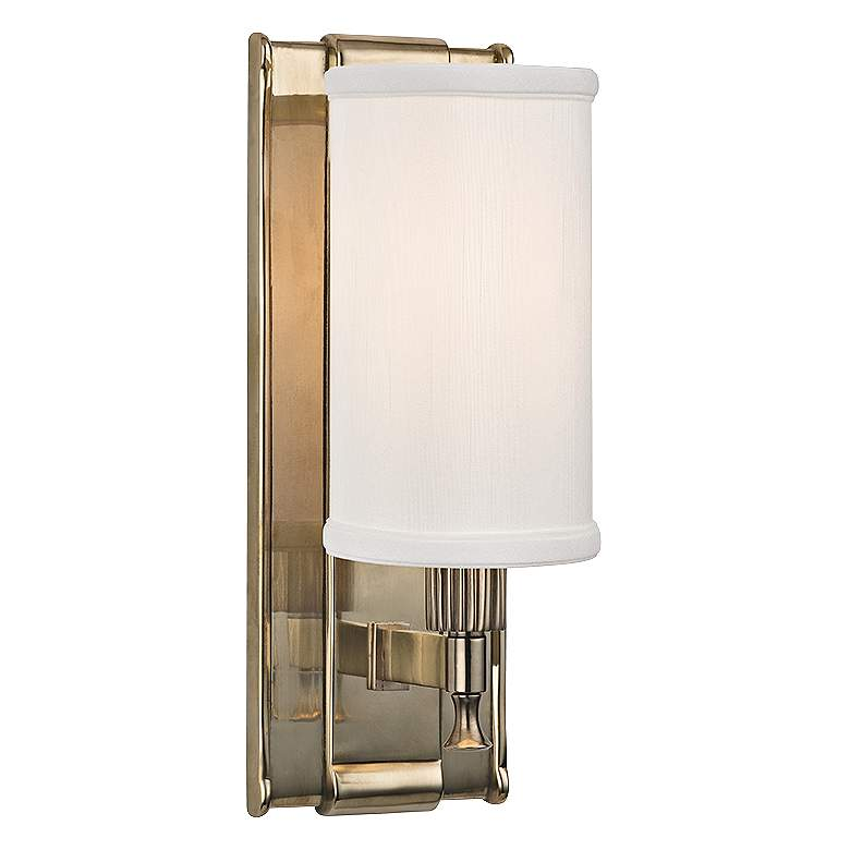 "Hudson Valley Palmdale 12"" High Aged Brass Wall Sconce"