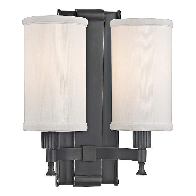 """Palmdale 12"""" High 2-Light Old Bronze Wall Sconce"""