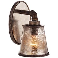 """Fillmore 9"""" High Industrial Rust Wall Sconce"""
