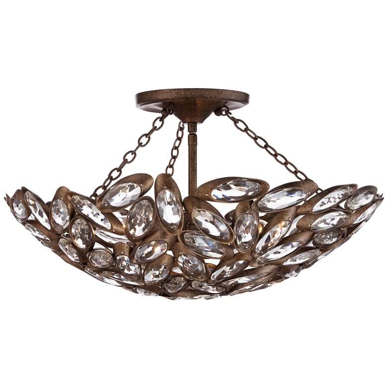 "Viera 20"" Wide Bronze Ceiling Light"