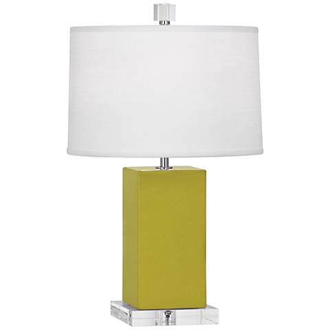 "Robert Abbey 19 1/4""H Harvey Citron Ceramic Accent Lamp"