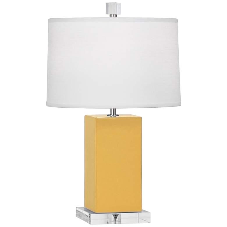Robert Abbey Harvey Sunset Yellow Ceramic Accent Lamp