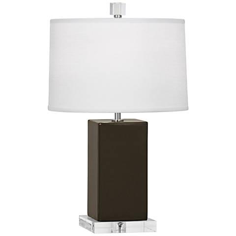 "Robert Abbey 19 /14""H Harvey Brown Tea Ceramic Accent Lamp"