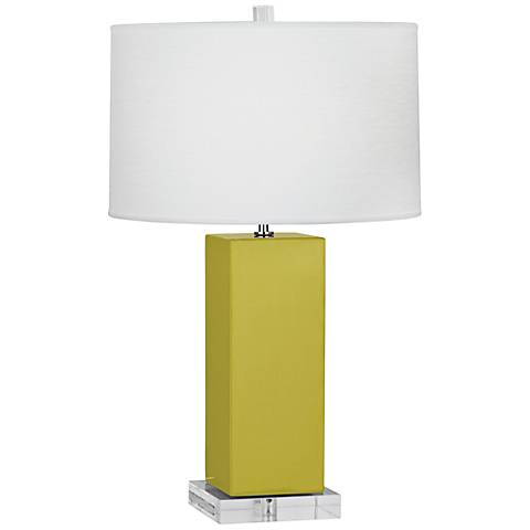 Robert Abbey Harvey Citron Ceramic Table Lamp