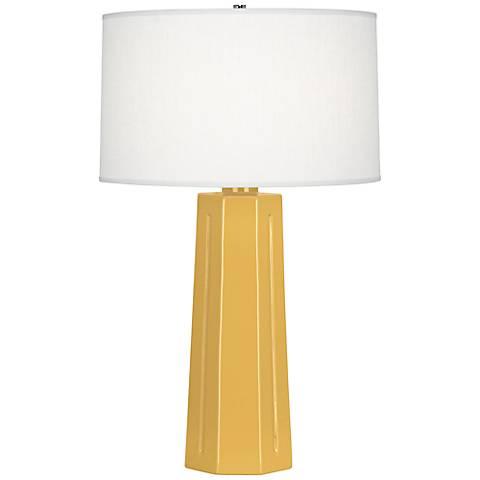 Robert Abbey Mason Sunset Yellow Ceramic Table Lamp