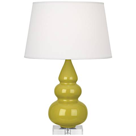 Robert Abbey Citron Triple Gourd Ceramic Table Lamp