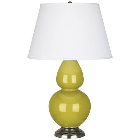 Robert Abbey Citron Ceramic and Silver Large Table Lamp