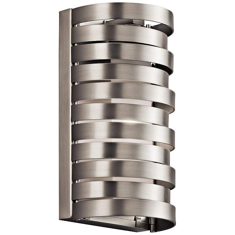 """Kichler Roswell 8 1/2"""" High Brushed Nickel Wall"""