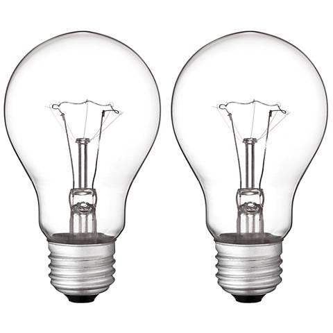 60 Watt A19 Vibration-Resistant Light Bulb 2 Pack