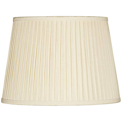 Eggshell Linen Drum Knife Pleat Shade 11x14x10 (Spider)