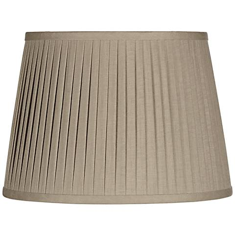 Taupe Drum Knife Pleat Shade 13x16x10 (Spider)