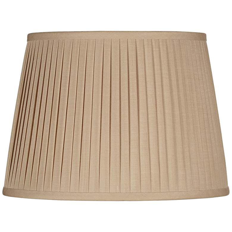 Beige Drum Knife Pleat Shade 14x17x11 (Spider)