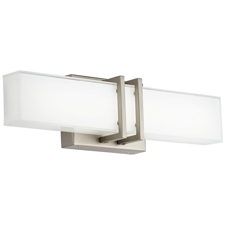 "Possini Euro Exeter 17"" High Nickel LED Bathroom Light"
