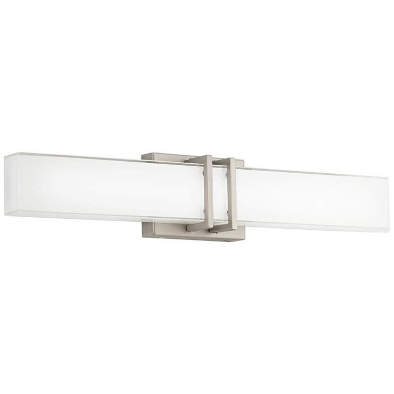 """Possini Euro Exeter 24""""W Nickel LED Bathroom Vanity Light"""