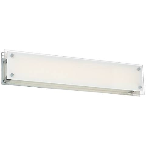 "Possini Euro DeWitt 28"" Wide Chrome LED Bathroom Light"
