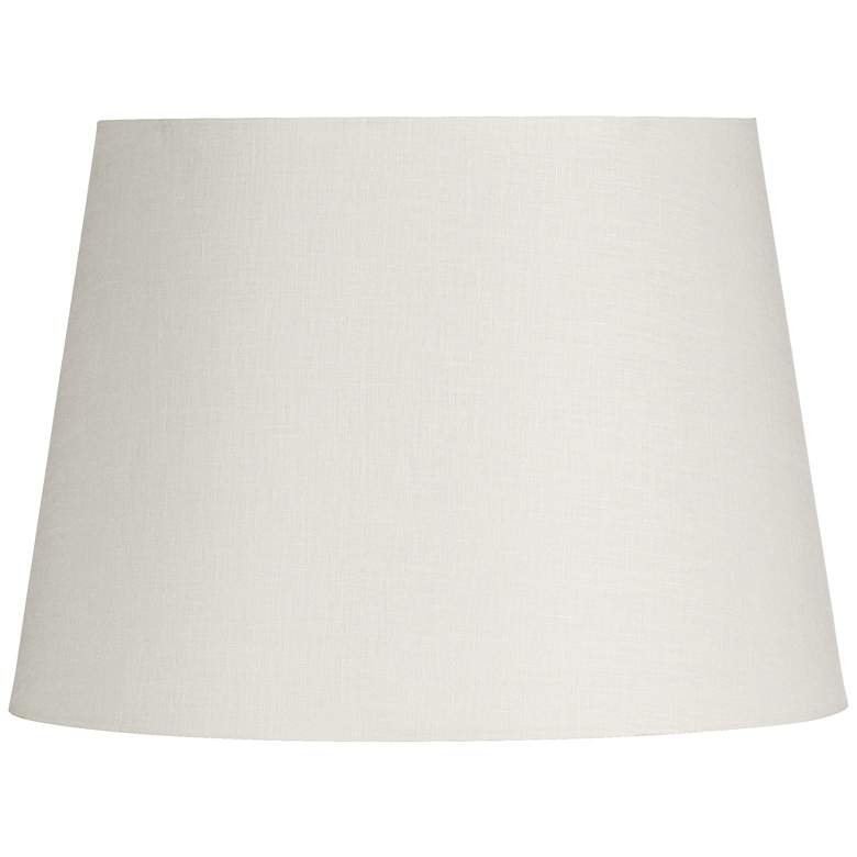 Off-White Linen Hardback Drum Shade 15x18x12 (Spider)