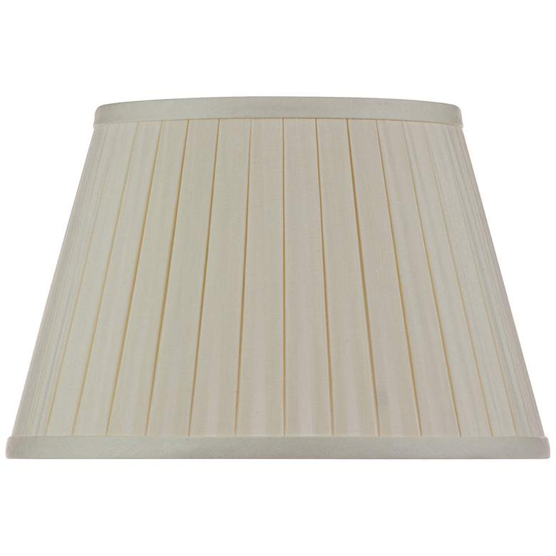 Eggshell Linen Box Pleat Empire Shade 5x8x6 (Spider)