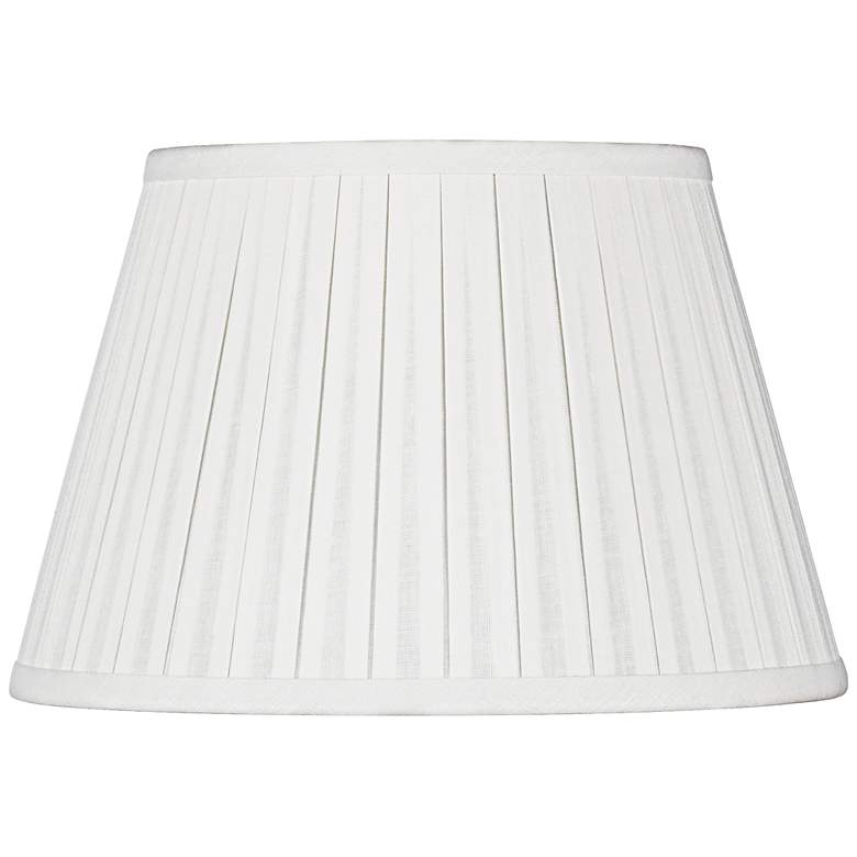Off-White Linen Box Pleat Empire Shade 6x10x7 (Spider)