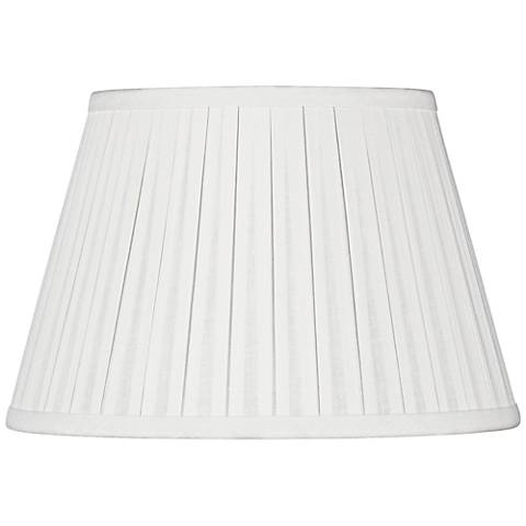 Off-White Linen Box Pleat Empire Shade 6x10x7 (Spider)