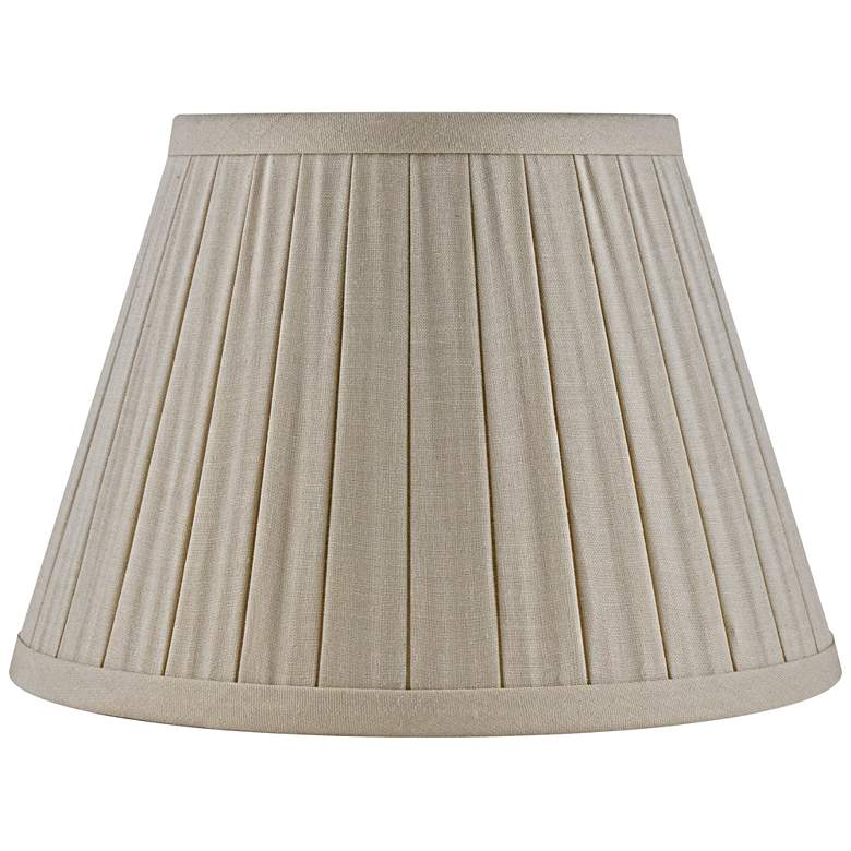 Beige Linen Box Pleat Empire Lamp Shade 6x10x7 (Spider)