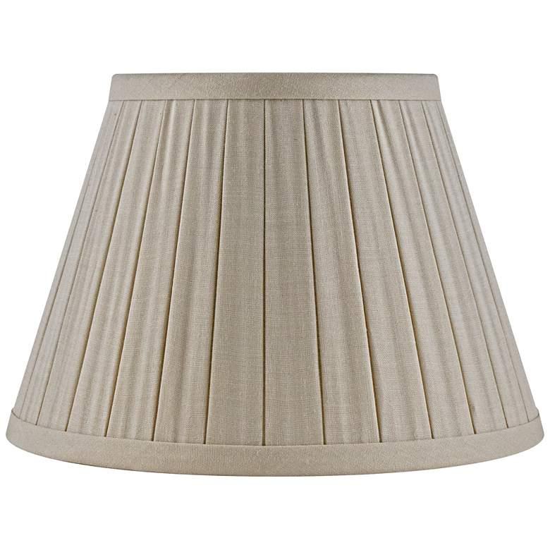 Beige Linen Box Pleat Empire Lamp Shade 8x12x8