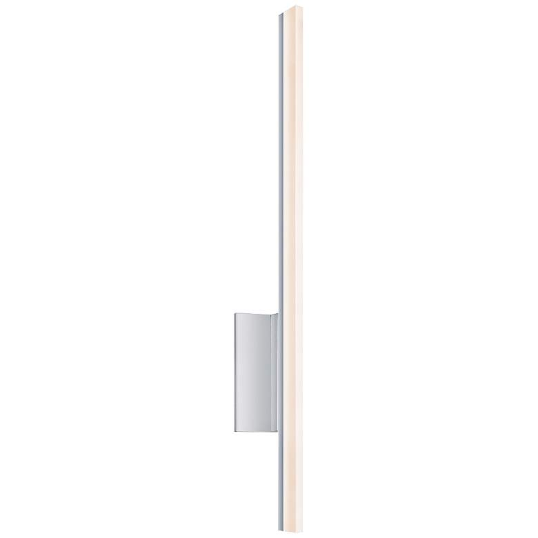 "Sonneman Stiletto 23 3/4"" High Satin Aluminum LED Sconce"