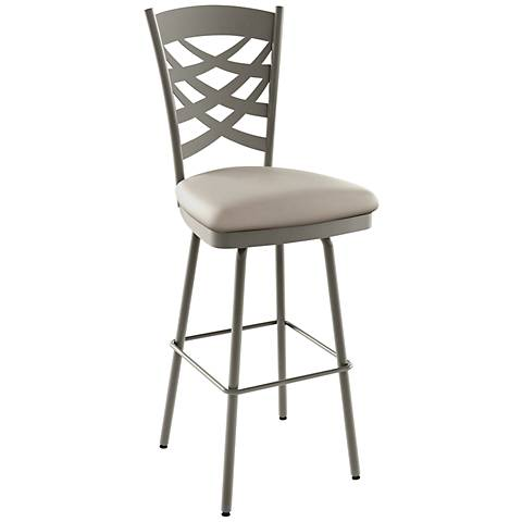 "Amisco Nest Oyster 26"" Titanium Warm Gray Counter Stool"