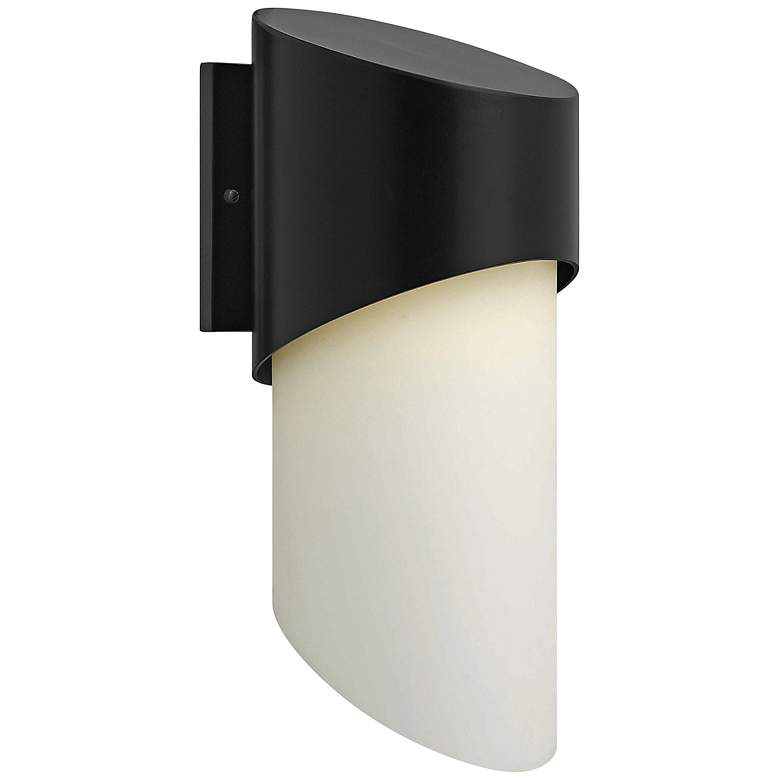 "Hinkley Solo 20 3/4"" High Satin Black Outdoor Wall Light"