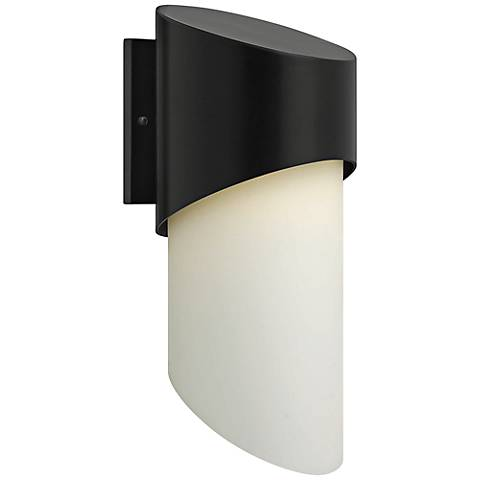 "Hinkley Solo 20 3/4"" High Satin Black Outdoor Wall Light"