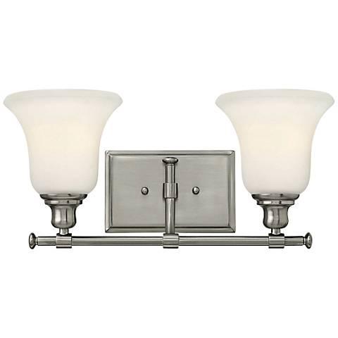 """Hinkley Colette 16 1/2""""W Brushed Nickel 2-Light Bath Light"""