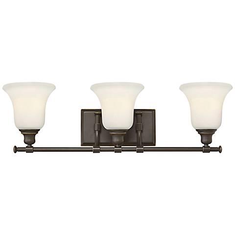 "Colette 26 1/4"" Wide Oil-Rubbed Bronze 3-Light Bath Light"
