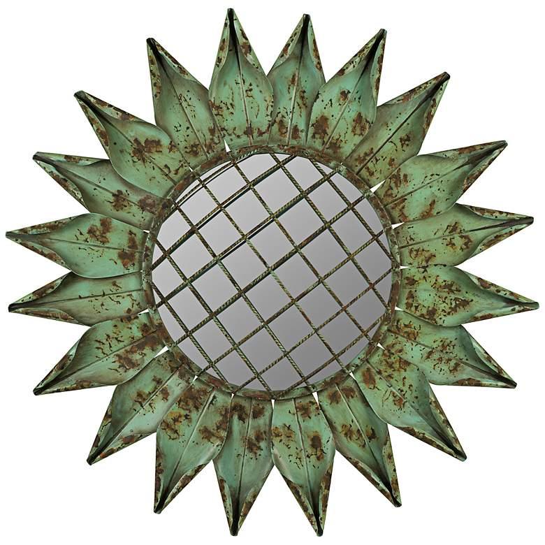 """Cooper Classics Umay 31"""" Sunburst Metal Wall Mirror"""