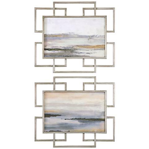 """Uttermost Gray Mist 2-Piece 30"""" Wide Wall Art Set"""