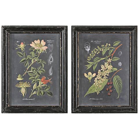 """Uttermost Midnight Botanicals 2-Piece 32 3/4"""" High Set"""