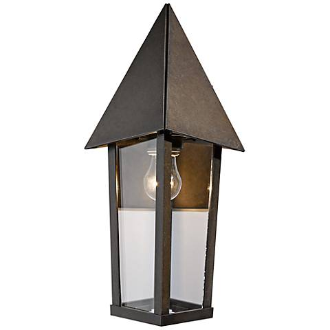 "Hubbardton Forge Elton 16 1/2"" High Bronze Outdoor Wall Light"