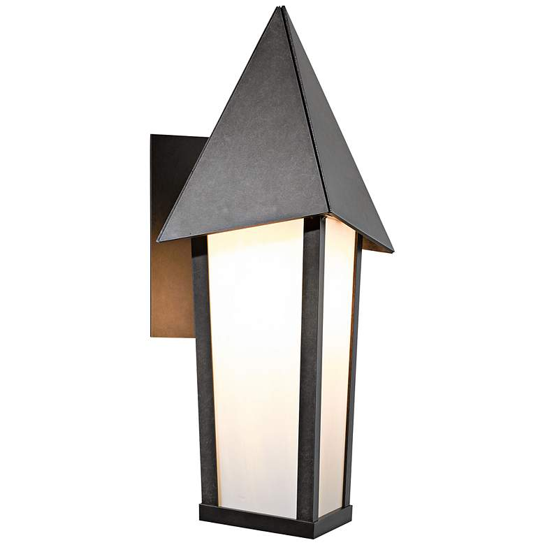 "Hubbardton Forge Elton 20 3/4"" High Smoke Outdoor Wall Light"