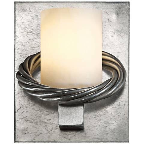 "Hubbardton Forge Cavo 5 1/2"" High Platinum Wall Sconce"
