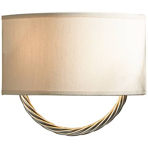 "Hubbardton Forge Cavo 9"" High Vintage Platinum Wall Sconce"